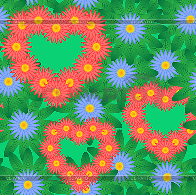 Rotes Herz und Blumen | Stock Vektorgrafik |ID 3013400