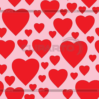 Prosty różowy tle z czerwonym sercem | Klipart wektorowy |ID 3013424