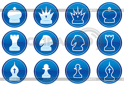 Шахматы набор иконок. | Векторный клипарт |ID 3013646