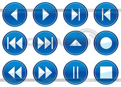 Multimedia zestaw przycisków nawigacyjnych. | Klipart wektorowy |ID 3013654