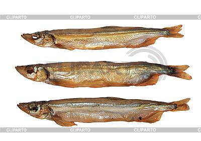 Trzy złote ryby wędzone | Foto stockowe wysokiej rozdzielczości |ID 3032657