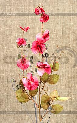 Букет с розовыми искусственными цветами | Фото большого размера |ID 3032779