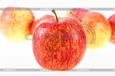 Grupa czerwono-żółtych jabłek   Foto stockowe wysokiej rozdzielczości  ID 3032780