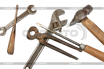 Set of dirty old tools | Foto stockowe wysokiej rozdzielczości |ID 3032894