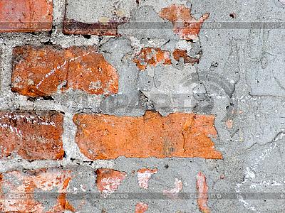 더러운 벽돌 벽 그런 지 배경 | 높은 해상도 사진 |ID 3032934
