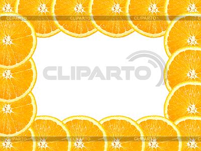 Rahmen aus Apfelsine-Scheiben | Foto mit hoher Auflösung |ID 3032950