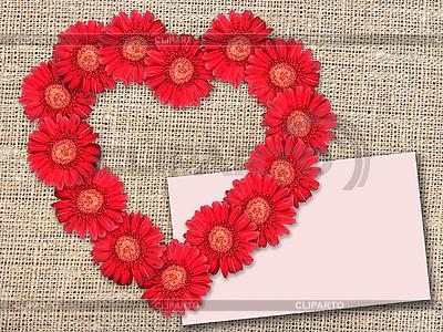 Strauß von roten Blumen wie Herz | Foto mit hoher Auflösung |ID 3032955