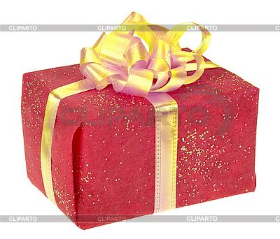 Plac Czerwony pudełko z kokardą | Foto stockowe wysokiej rozdzielczości |ID 3033014