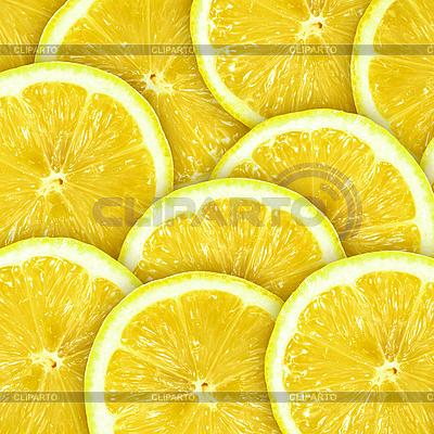 Абстрактный фон с ломтиками лимона