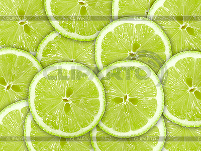 Grüner Hintergrund mit Limettenscheiben | Foto mit hoher Auflösung |ID 3033233