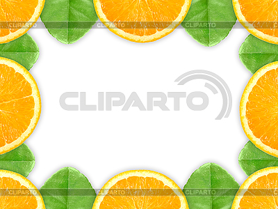 Rahmen aus Apfelsine-Scheiben | Foto mit hoher Auflösung |ID 3033239