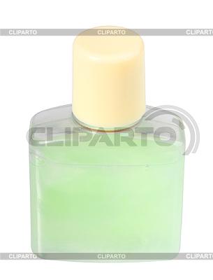 Grüne kosmetische Creme in transparenter Flasche | Foto mit hoher Auflösung |ID 3033261