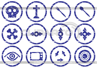Grunge zestaw ikon gadżetu | Klipart wektorowy |ID 3063461