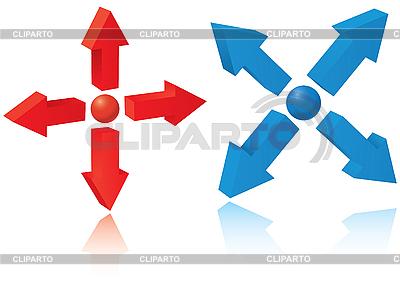 Zestaw 3d wskazówki | Klipart wektorowy |ID 3064107