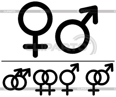 Männliche und weibliche Symbole | Stock Vektorgrafik |ID 3064983