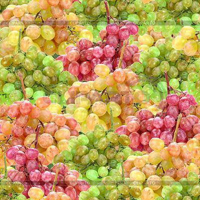 Nahtlose Muster von frischen reifen Trauben bunter | Foto mit hoher Auflösung |ID 3274539