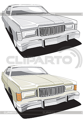 Big american retro car | Klipart wektorowy |ID 3014764