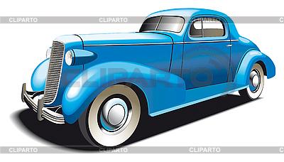 Синий старинный автомобиль | Векторный клипарт |ID 3014770
