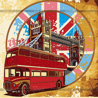 English stylu grunge | Klipart wektorowy |ID 3014798