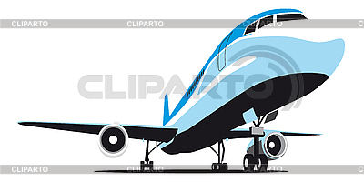 Samolot pasażerski | Stockowa ilustracja wysokiej rozdzielczości |ID 3014828