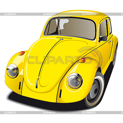Stary żółty samochód | Klipart wektorowy |ID 3014874