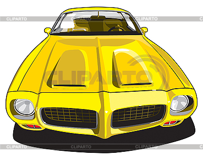 Gelber Sportwagen | Stock Vektorgrafik |ID 3014886