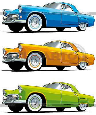Stare samochody amerykańskie | Klipart wektorowy |ID 3014928