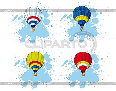 뜨거운 공기 풍선 | 벡터 클립 아트 |ID 3014944