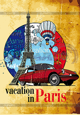 Urlaub in Paris | Stock Vektorgrafik |ID 3014968
