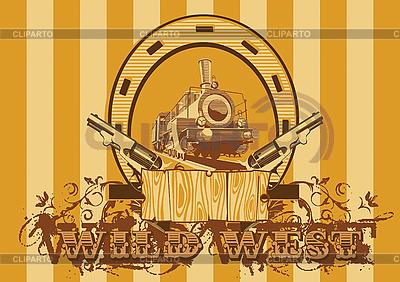 Wild West Vignette | Klipart wektorowy |ID 3015008