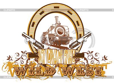 Vignette mit Dampflokomotive | Stock Vektorgrafik |ID 3015014