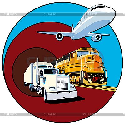 Przewóz ładunków | Klipart wektorowy |ID 3015042