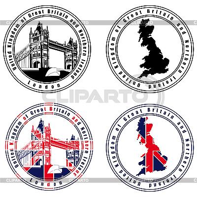 英语邮票 | 向量插图 |ID 3015052