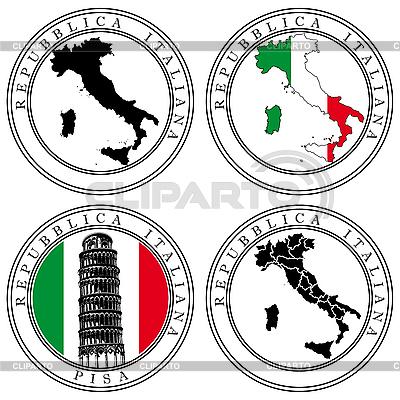 意大利邮票 | 向量插图 |ID 3015073