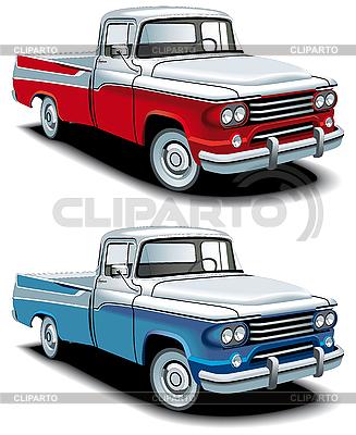 Retro amerykański pickup | Klipart wektorowy |ID 3015101