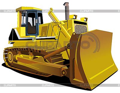 Żółty Dozer | Klipart wektorowy |ID 3015119