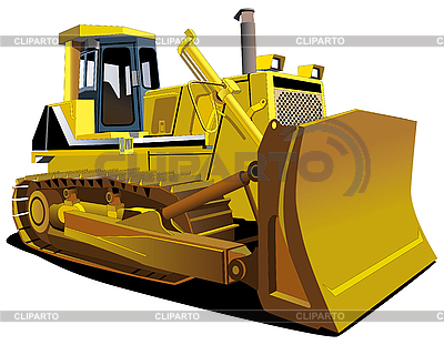 Gelbe Planierraupe | Stock Vektorgrafik |ID 3015119