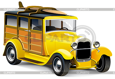 Gelbes altes Auto | Stock Vektorgrafik |ID 3015221