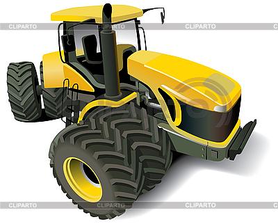 Żółty Nowoczesne Tractor | Stockowa ilustracja wysokiej rozdzielczości |ID 3015223