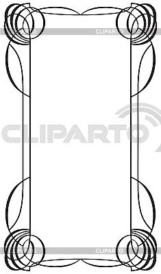 Ramka w stylu secesji | Klipart wektorowy |ID 3026724