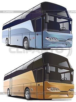 Duże autobusy | Klipart wektorowy |ID 3026744