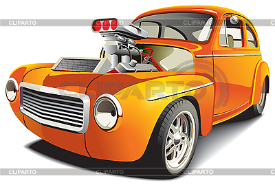 Orangefarbenes Auto | Stock Vektorgrafik |ID 3026764