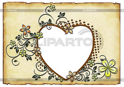 Herzchen mit Blumen | Illustration mit hoher Auflösung |ID 3012858