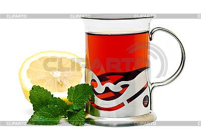 Tea in glass holder | Foto stockowe wysokiej rozdzielczości |ID 3013753