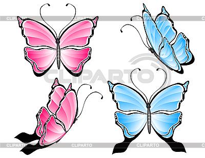 Butterfly set | Klipart wektorowy |ID 3014092