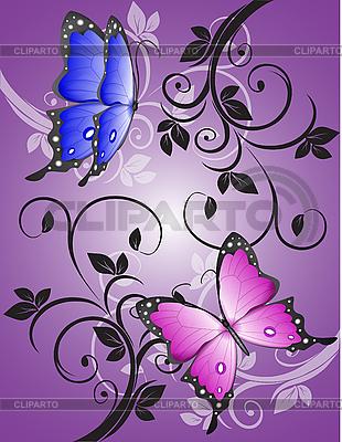 화려한 나비 패턴 | 벡터 클립 아트 |ID 3014135