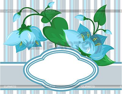 Blumenmuster mit Platz für Text | Stock Vektorgrafik |ID 3014177