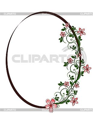 Oval Blumenrahmen | Stock Vektorgrafik |ID 3014227