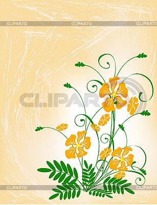 Bukiet z kwiatów pomarańczy.   Klipart wektorowy  ID 3014267