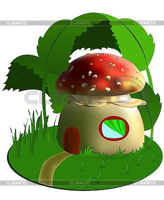 Fairy house grzyby | Klipart wektorowy |ID 3014329